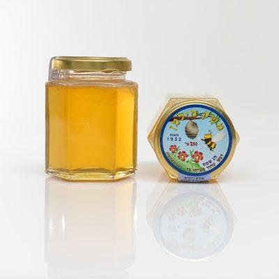 צנצנת דבש 60 גרם משושה