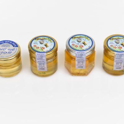 מארז צנצנות דבש במגוון צורות